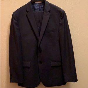 Joseph Abboud solid Navy Blue wool dress suit 44R